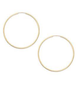 14k Gold Earrings, Endless Hoop Earrings (15mm)   Earrings   Jewelry