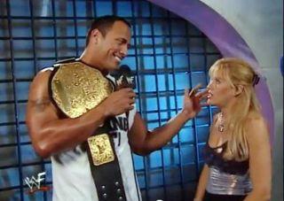 WWE DIVA LILIAN GARCIA SexY Top Worn In Strudel Interview w/ the ROCK