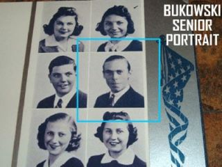 Charles Bukowski High School Yearbook SR yr for Laureate of American