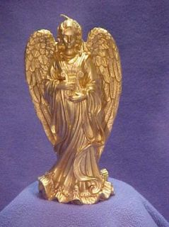 Lillian Vernon Gold Angel Candle Beautiful Great Detail