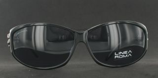 New Linea Roma LR3292 Sunglasses Black Plastic Womens Sunglass Frame
