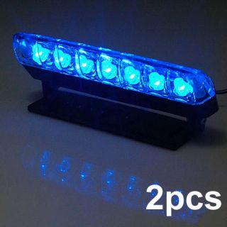 2X 12V 7LED Car High Bright Day Driving Blue Light