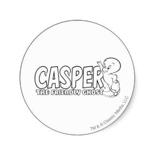 Casper the Friendly Ghost Logo 2 Stickers