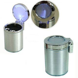 Portable Car Auto Travel LED Light Cigarette Ashtray Ash Holder Cup
