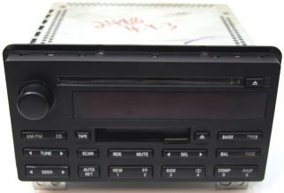 2003 2004 2005 Lincoln Aviator Factory Stereo Cassette Tape CD Player