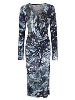 Damsel in a Dress Tanzanite print dress Blue