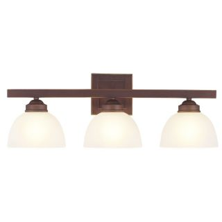 NEW 3 Light Bathroom Vanity Lighting Fixture, Vintage Bronze, White
