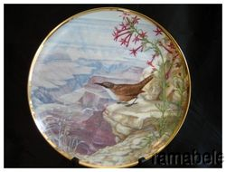 Favorite American Songbirds Hamilton Thompson 24K Gold RM Plate