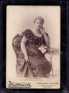 1892 MORRISON CHICAGO #23 LILLIAN RUSSELL ACTRESS CABINET CARD