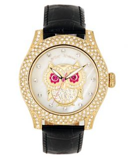 Watch, Womens Black Leather Strap BJ00019 18   A Exclusive