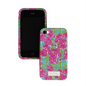 BNIB Lilly Pulitzer iPhone 4 Cell Phone Cover Holder Case Fan Dance