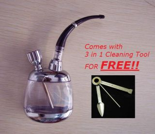 Cigarette Holder Water Smoking Liquid Filter Reduce Tar Gold/Silver