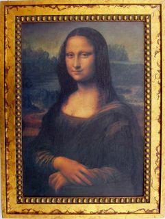 Da Vinci Mona Lisa Gold Custom Framed Canvas Replica