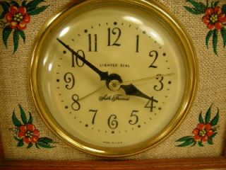 Vtg. SETH THOMAS Linwood Drowse ALARM CLOCK Lighted Dial Working Oak