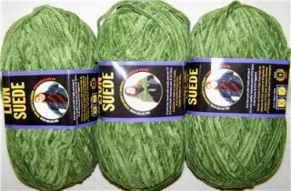 oz Lion Brand Suede Yarn New Olive Green
