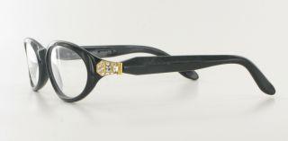 New Gianfranco Ferre 345 Eyeglasses Black Gold Rhinestone Womens Frame