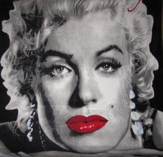 New Marilyn Monroe Red Lips Plush Fleece Throw Gift Blanket Soft NIP