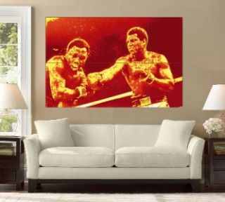 Muhammad Ali vs Sonny Liston Huge Wall Print Art Poster Boxing Fight