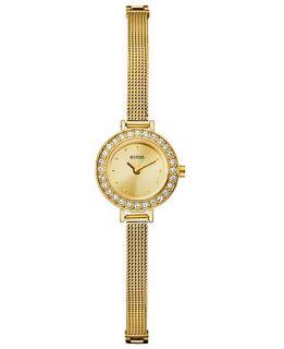 GUESS Watch, Womens Gold tone Mesh Bracelet 21mm U96013L1   All