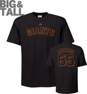 Tim Lincecum San Francisco Giants 55 Big Tall Name and Number Black T