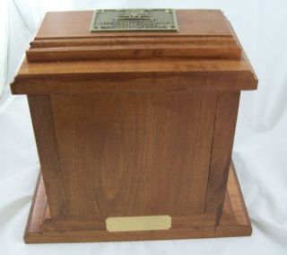 WOODEN MONEY BANK MADE FROM LINCOLNTON, NC POST OFFICE BOX DOOR KEYED