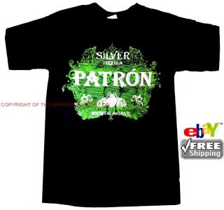 New Mens Silver Patron Tequila Liquor T Shirt Pick Your Size Free
