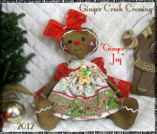 sweet new little christmas gingerbread doll is at ginger creek
