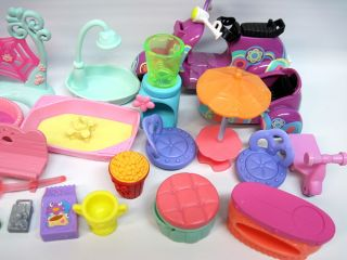 Littlest Pet Shop LPS Lot Accessories Only Scooter Blythe Items Beds