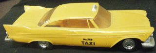 1958 Plymouth Fury Taxi RARE Johan 1 25 Scale Promo Model Yellow Cab