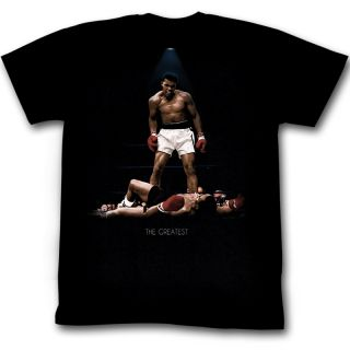 Muhammad Ali vs. Liston Poster KO Fight Licensed Tee Shirt Adult Sizes