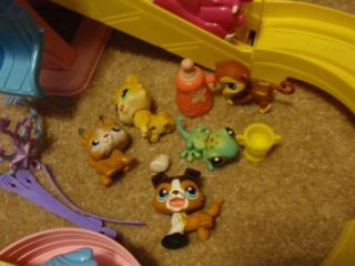 LPS Littlest Pet Shop Lot 15 Ferris Wheel Dog Monkey Cat Car Track Vet