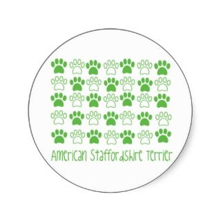 Paw by Paw American Staffordshire Terrier Sticker