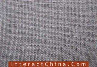 Grey Linen Martial Art Long Coat Gown Robe Cheongsam 112