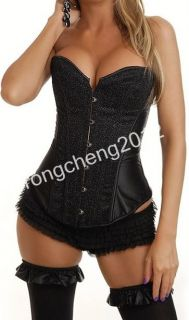 Sexy Lingeries 3Color Satin Lace Up Corset Basque Wedding Dress Party