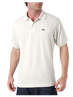 Lacoste Classic fitted polo shirt Cream