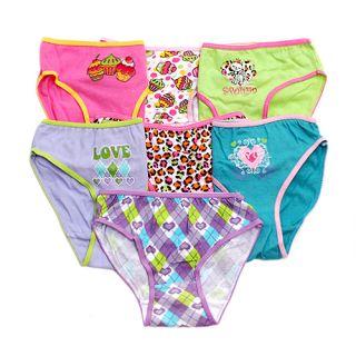 Little Girls Underwear Assorted Panty 7PR Size 14