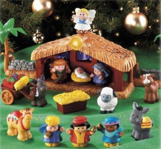 NEW Fisher Price Little People Nativity Set w/ Lights Sounds Songs NIB