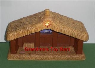 Fisher Price Little People Nativity Stable Barn w Sounds