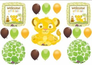 Lion King Welcome Baby Shower Balloons Decorations Supplies Safari