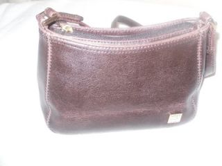 Liz Claiborne Brown Leather Purse Handbag NYC