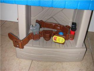 Little Tikes Home Improvements 2 Sided Workshop w  Tool Belt
