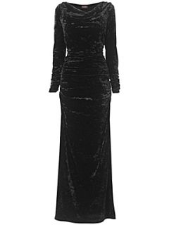 Phase Eight Dolores velvet dress Black