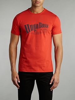 Hugo Boss Printed front t shirt Red