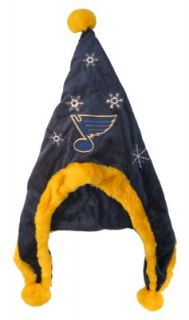 St Louis Blues NHL Hockey Soft Fleece Snowflake Dangle Hat