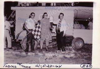 Dick Toby Tobias Modified 1964 Auto Racing Photo Winner