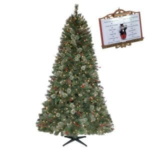 Martha Stewart Living 7.5 ft. Pre Lit Paley Pine Christmas Tree Clear