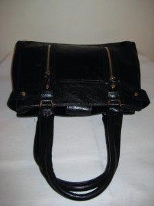 Liz Claiborne Black Satchel Shoulder Bag Handbag Purse