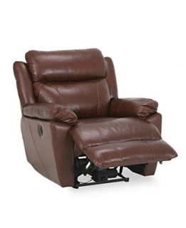 Kurt Leather Seating with Vinyl Sides & Back Power Recliner Chair, 39