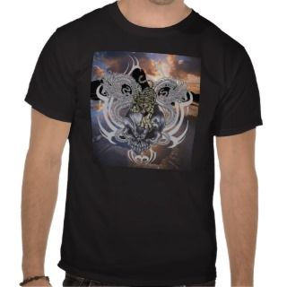 Tribal Skull, Dragon, Tiger T shirt