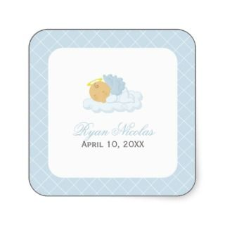 Baby Boy Baptism Stickers